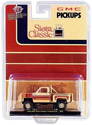 1976 gmc sierra classic 15 pickup truck desert fox buckskin tan con bandas de liberación de 8250 unidades 1/64 diecast modelo Car...
