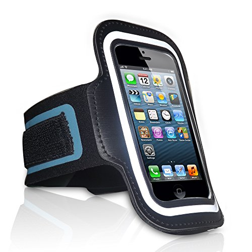 RED STAR TEC iPhone SE Armband for Running, Cycling & Gym Workouts. The Best Fitting Adjustable Arm Band. A Holder of The iPhone 5, 5S, 5C iPhone SE New & iPod Touch (7thGeneration) by Apple.