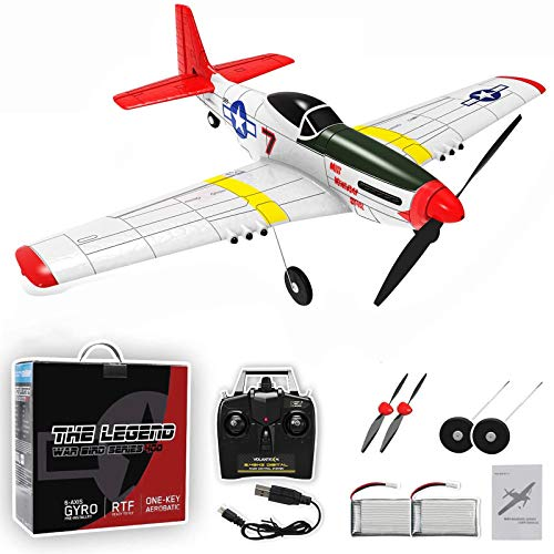Remote Control Plane,Top Race RC Aircraft Plane 4channel Ready to Fly with Xpilot Stabilization System, One-Key U-Turn Easy Control for Adults &Kids, LEAMBE