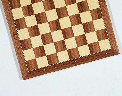 Weible Spiele 2155 Schachbrett mit Zahlen und Buchstaben aus Nussbaum und Ahorn, Feldgrösse 55mm