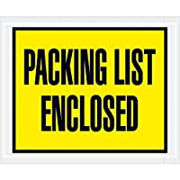 Top Pack Supply Tape LogicPacking List Enclosed Envelopes 4 1/2 x 5 1/2 Yellow (Pack of 1000) [並行輸入品]
