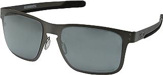 Oakley Holbrook Metal Polarized Iridium Square Sunglasses, Matte Gunmetal w/Prizm Black Polarized, 55 mm