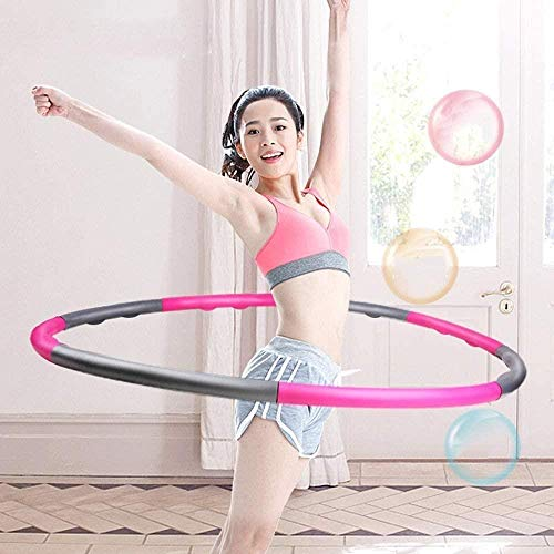 Why Should You Buy HTZ Portable Foam Fitness Exercise Hula Hoops,8 Knots Detachable Hula Hoop, Unise...