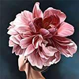 5d DIY diamante pintura rosa cuadrado diamante bordado mosaico flor hecho a mano hogar diamante pintura A6 45x60 cm
