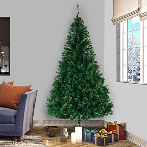 VSTAR66 8 ft/2.4M Artificial Christmas Tree 1050 Tips Bushy Xmas Home Décor with Metal Stand