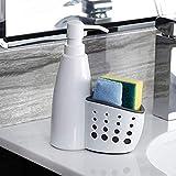 Swadhin Plastic Dish Washing Organiser with in Built Liquid Bottle Dish Washing Liquid Hand Wash Soap Dispenser for Sink Kitchen Organiser