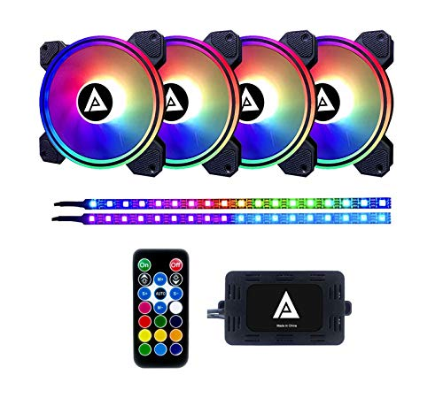 Apevia ET42-RGB Electro 120mm Silent Addressable RGB Color Changing LE...