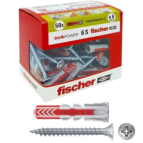 Fischer - Tacos Duopower con tornillo, gris, 544016
