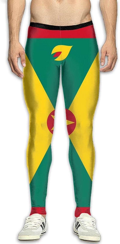 82ed708f53 Nollm Flag of Grenada Compression Men's Men's Men's Gym Training Pants 3D  Print Fitness 74b6c0