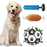 Pelota de Caucho Natural para Perros,Juguetes de Inteligencia de Fútbol para Perros ,Bola Interactiva para Perros,Bola del Juguete del Perro ,Fútbol para Perros