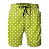 Richard Lyons Vintage Old Fashioned 60s 70s Inspired Polka Dots Pop Art Style Art Print Men's Quick Dry Beach Shorts Casual Comfortable Surf Shorts