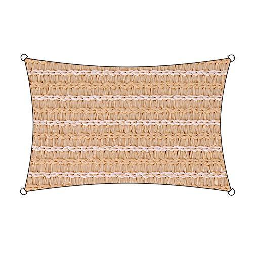 Alice Toldo Vela De Sombra Lona De Tienda Impermeable Resistente A Los Rayos UV Transpirable Durable BloqueUV for Terraza, Jardín, Cámping, Y Paño De Picnic 0408 (Color : Beige, Size : 3 X 4 M)