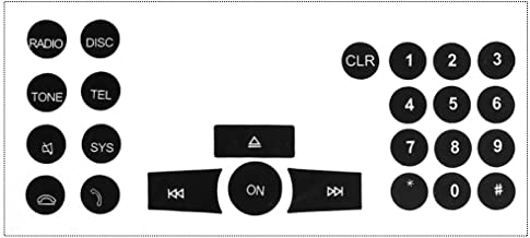 1x Radio Button Sticker Repair Kit For 2007-2014 Mercedes Benz W204 C250 C300 C350 E-Class ML GL GLK Audio Dash Replacement Decal Sticker