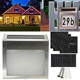 Luz solar de la calle A prueba de agua con energía solar LED House Dirección Puerta Número Placa de puerta de la pared de luz de la lámpara