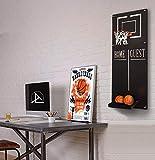 Ocartes - Canestro da Basket con Decorazione in Metallo, da Parete, con Camera Sportiva, canestro da Basket e Sala Giochi