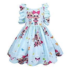 ALAMing Robe de princesse pour fille