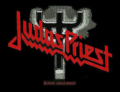 Judas Priest Judas Priest Logo Unisex Parche negro/gris/rojo, 100% poliéster,