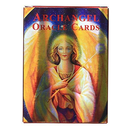 Erzengel-Orakelkarten: 45 Karten, Online-PDF-Leitfaden, Land Holographic Board Games Divination für Erwachsene und Kinder Tischspiel Dobble Playing Card