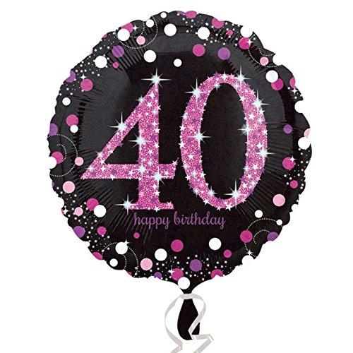 amscan Milestone - Palloncino Festa Compleanno (Anni 18-100) (Taglia Unica) (40)