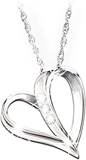 Bradford Exchange from Dad: My Daughter, My Heart, My Love 3-Diamond Pendant Necklace by The