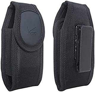 Verizon OEM Large Rugged Nylon Pouch Case with Rotating Belt Clip for Samsung Galaxy J1 / J3 V / J7 / Note 4 / Note 5 - Retail Package