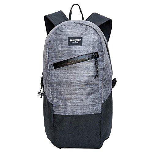 Flowfold Optimist Backpack Ultra Lightweight Minimalist Daypack, Small Backpack, 10L Backpack (Heather Grey)