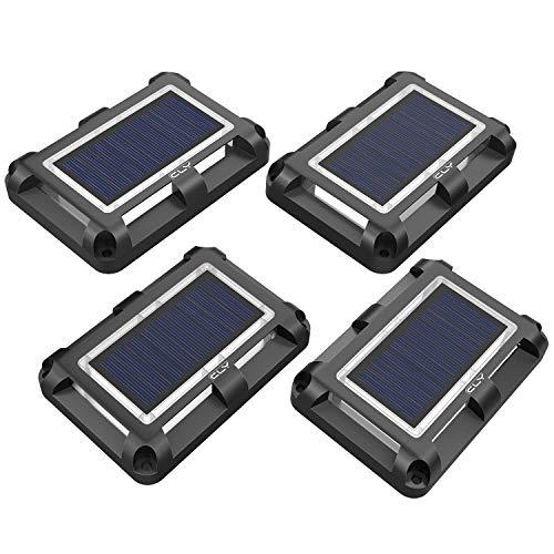 CLY Solar Bodenleuchten,20 LEDs Solarleuchte für Garten,Solar Außenleuchte IP67 Wasserdicht, Solarleuchte Boden für Rasen, dachrinnen, Fahrstraßen Gehweg [2Stück kaltes Weiß]
