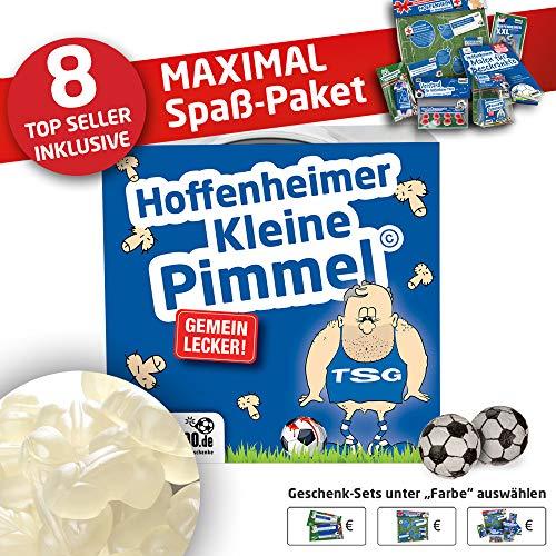 Hoffenheim Trainingshose ist jetzt KLEINE PIMMEL Set 2: MAXIMAL-Spass-Paket by Ligakakao.de blau-weiß Herren Lotto Jogging lauf-Hose Trainingsanzug