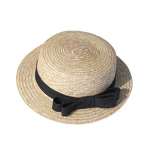 Parent-Child Cap Baby Sun Hat Beach Hat UPF 50+ Kids Summer Play Straw Sun Visor Cap
