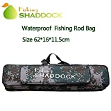 SHADDCOK ロッドケース 大容量 釣竿ケース 手提げ 肩掛け 軽量 防水 リールケース タックルバッグ フィッシングバッグ 60cm