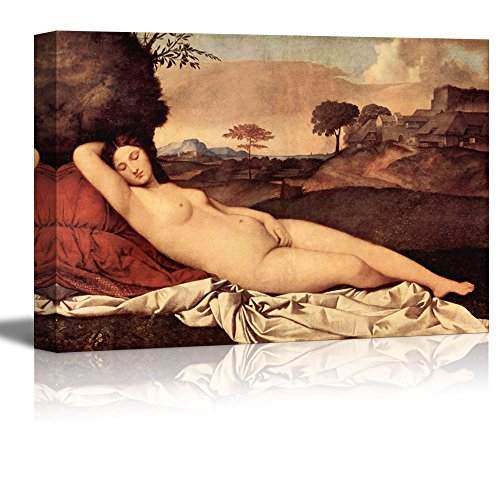 "Sleeping Venus by Giorgione Giclee Canvas Prints Wrapped Gallery Wall Art | Stretched and Framed Ready to Hang - 16"" x 24"""