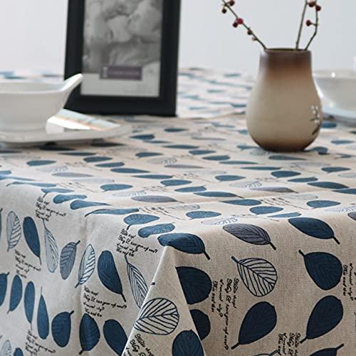 Mantel nórdico de Lino Verde Mantel de algodón y Lino Mantel de té a Cuadros pequeños literario y artístico pequeño 140x220cm como se Muestra