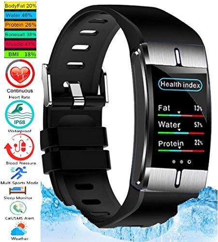 N3 ZELEK Smart Watch Bloeddrukmeter Fitness Tracker BMI LICHAAMSVET STERKE BATTERIJ Waterdicht IP68 50m Hartslagmeter Activity Tracker voor Vrouwen Slaapmonitor Man Unisex Horloge