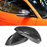 MCARCAR KIT Mirror Cover fits Jaguar F-type 2Door 2013-2019 Add-on Carbon Fiber CF Rearview Side Rearview Mirror Caps Car Exterior Outside Shell
