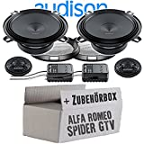 Audison APK-130-13cm Lautsprecher System - Einbauset für Alfa Romeo Spider + GTV - JUST SOUND best choice for caraudio