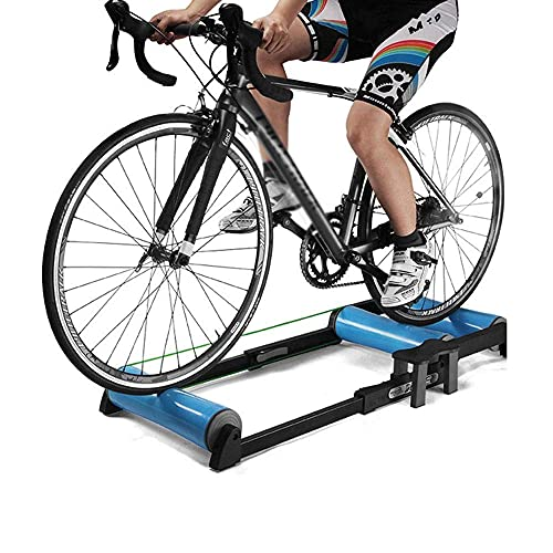 HUAQINEI Entrenador de Bicicleta de Ciclismo de Fitness, Entrenador de Bicicleta de Carretera Ajustable Plegable Estación de Fitness Rodillo de Entrenador de Ciclismo para Bicicleta de 24-29'