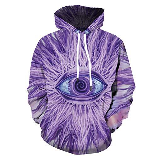 HOSD 3D-Sweatshirt-Augenmuster-Hoodie Abstrakter