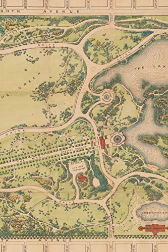 1873 Map of Central Park in Manhattan, New York City - A Poetose Notebook / Journal / Diary (100 pages/50 sheets) (Poetose Notebooks)