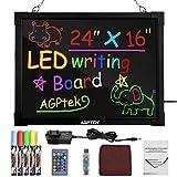 Pizarrón LED para Mensajes AGPtek de 24'× 16', Pizarrón para Escribir y Dibujar...