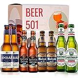 Pack de cerveza degustación BEER 501 - Caja Sin Alcohol: Ambar, Estrella Galicia, Mahou y...