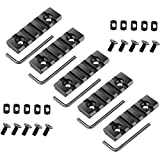 IORMAN 5 Pcs Lightweight 5-Slot Aluminum Rail for Hunting Shooting Rifle mounts for MLOCK System