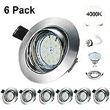 Spots LED Encastré Orientable GU10 Kimjo 6W Blanc Neutre 4000K 550lm Plafonnier...