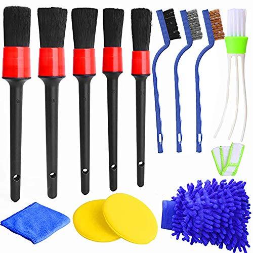 Queta 13pc Auto Detailing Brush Set Car Cleaner Brush Soften und festen Mischfaser des Reinigungsbrush Autopflege...