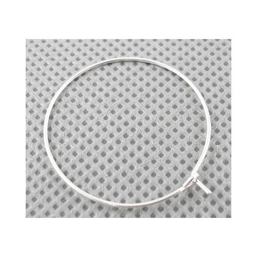 Paket 30 x Silber Messing 0.8mm x 25mm Weinglas Charme Ringe - (HA13200) - Charming Beads