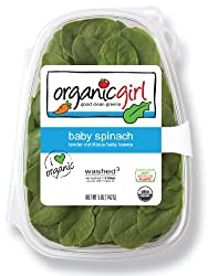 Organicgirl Baby Spinach, Clamshell, 5 Ounce