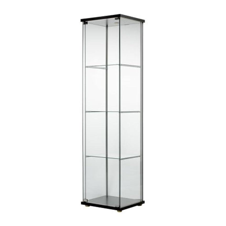 カニスクラッチハンディキャップIKEA/イケア DETOLF/デトルフ ガラス扉キャビネット43x163 cm ブラックブラウン403.540.42