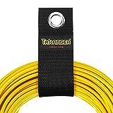 Trilancer 延長コードホルダーオーガナイザー(8個パック) 調節できる頑丈な収納ストラップ 自宅、地下室、RV作業場、ボートのホース、ロープ、ケーブル用(Lサイズ4個、XLサイズ4個)
