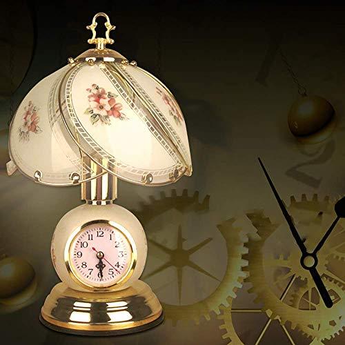 GUOXY Moderna Lámpara de Mesa de Cristal Minimalista de la Lámpara de la Lámpara de la Lámpara de la Lámpara de la Lámpara con la Lámpara de la Mesa Del Hotel de la Atenuación Del Reloj Del Reloj 23