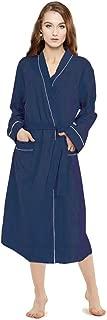 Kimono Robes for Women Lightweight Long Robes for Women Soft Maternity Robe Blue