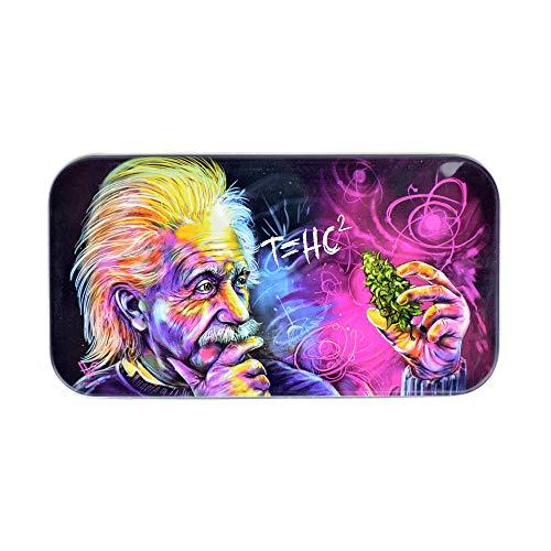 V Syndicate Tabakdose, 50 g, T=HC2 Einstein-Design, 12 x 6 cm